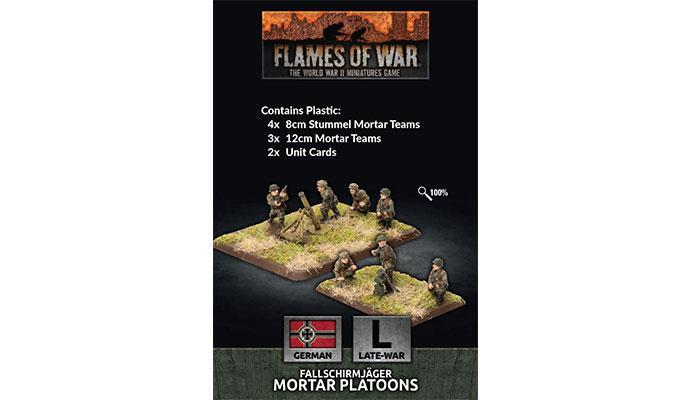 Flames of War: German Fallschirmjager 8cm/12cm Mortar Platoon