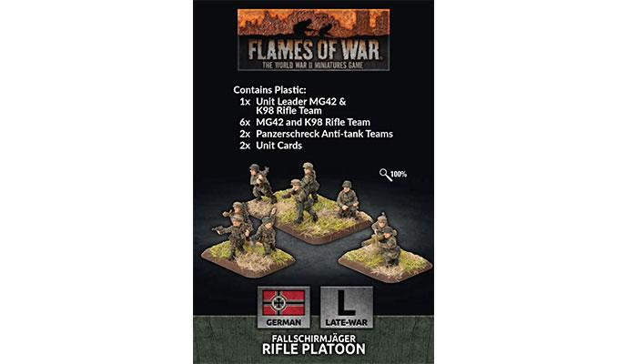 Flames of War: German Fallschirmjager Platoon