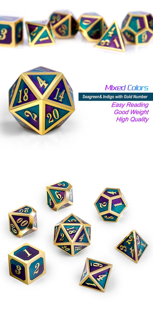 Metal & Enamel Dice Set (7pcs) [Jester]
