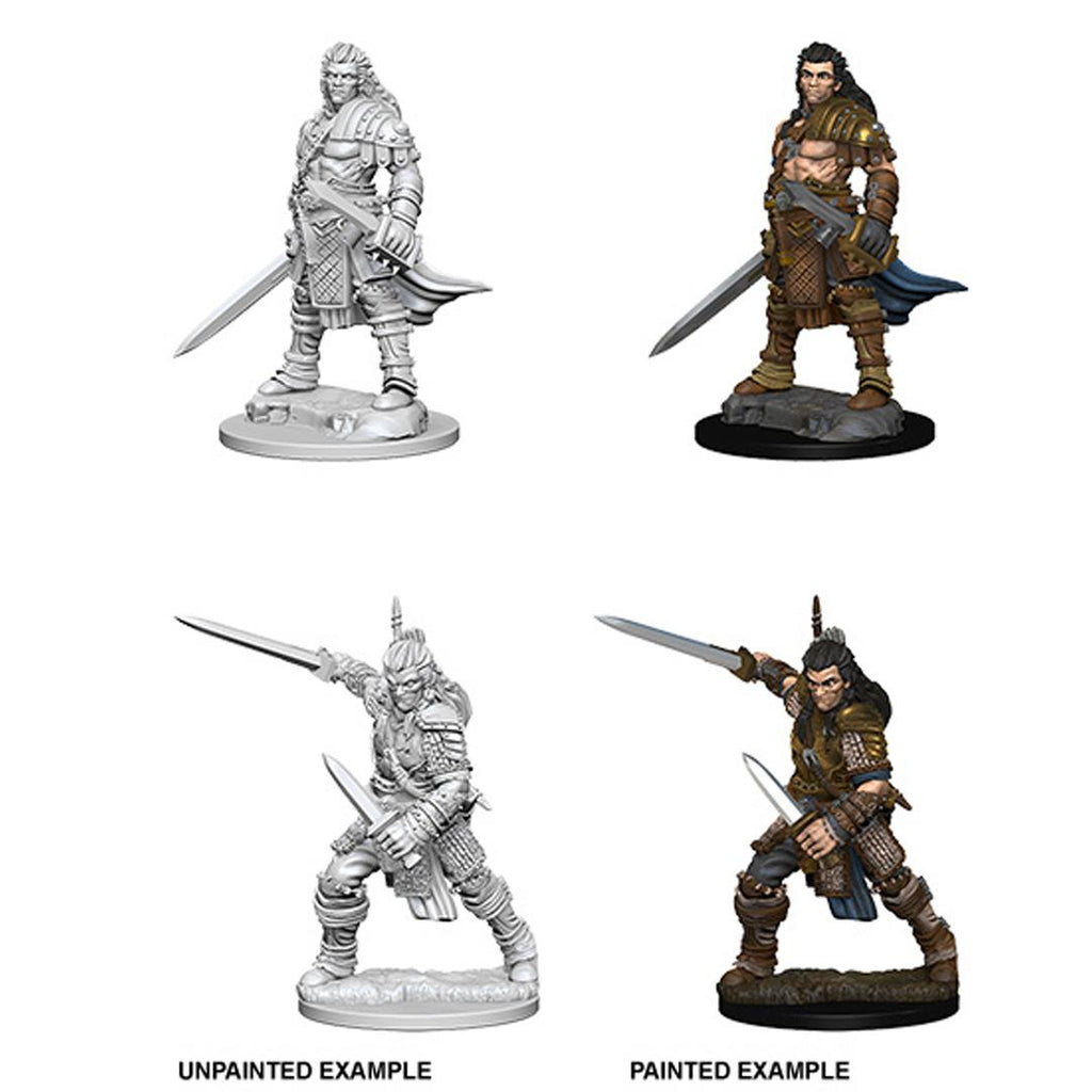 Pathfinder Deep Cuts Unpainted Miniature: Human Male Fighter