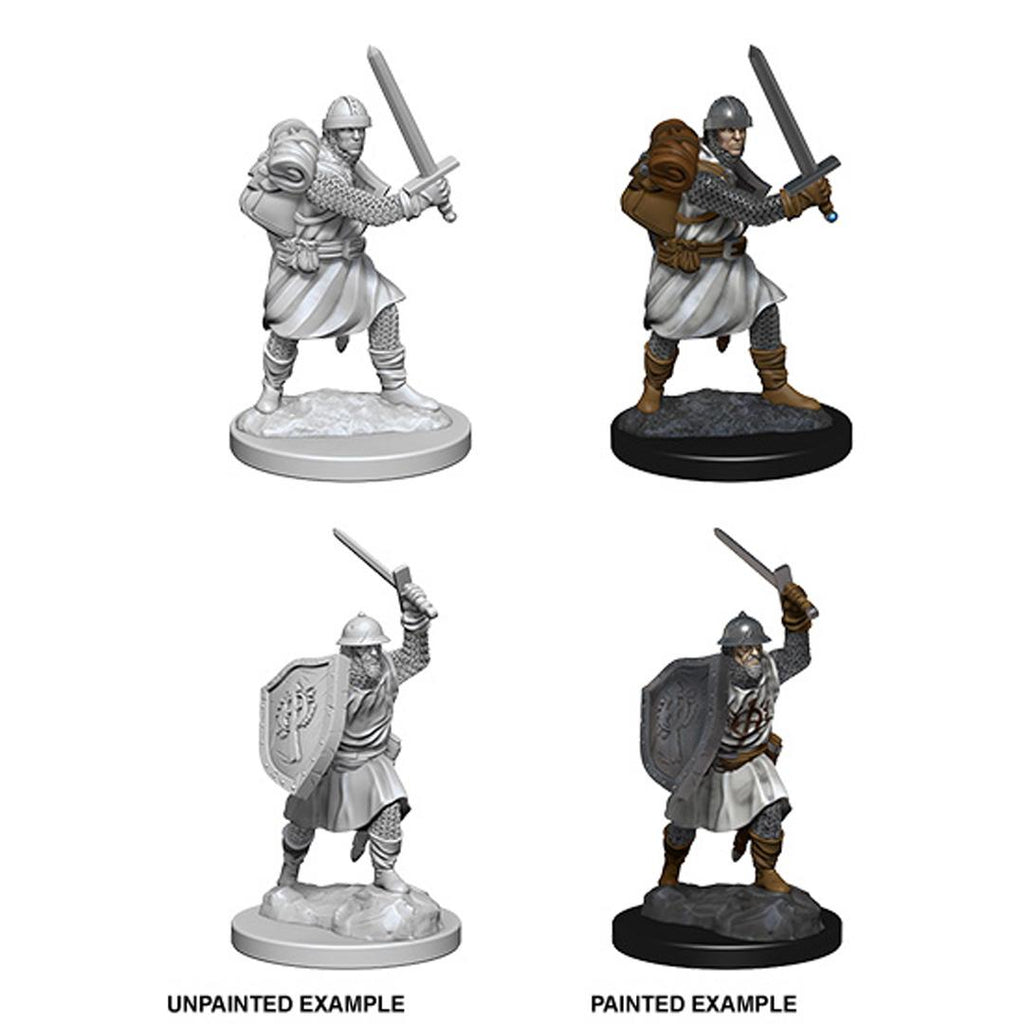 Pathfinder Deep Cuts Unpainted Miniatures: Infantrymen