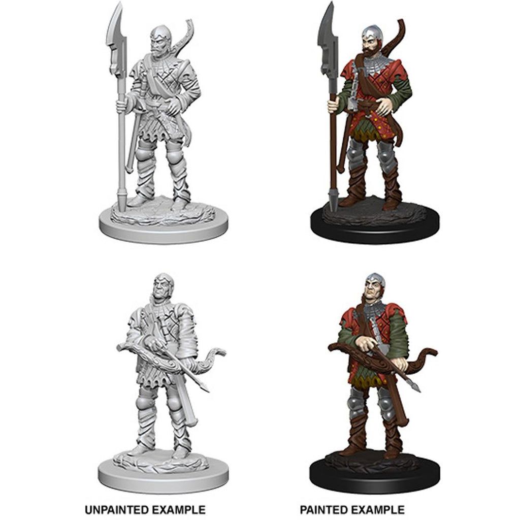 Pathfinder Deep Cuts Unpainted Miniatures: Town Guards