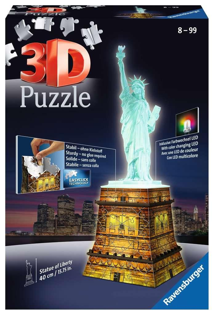 State of Liberty at Night 3D Puzzle with LED