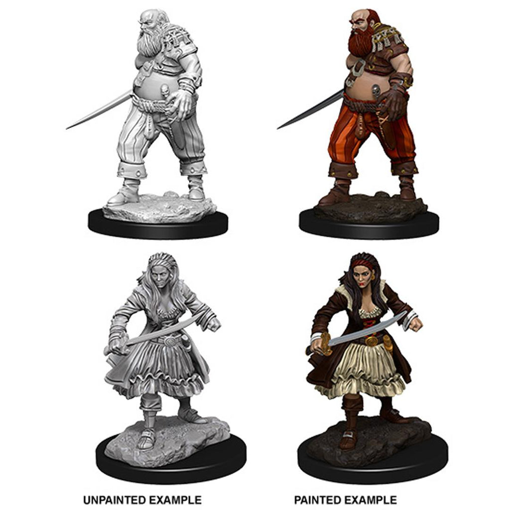 WizKids Deep Cuts Unpainted Miniatures: Pirates