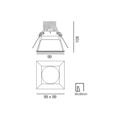 11W RECESSED DOWN LIGHT <Br><sub>LANA – DL110271</sub>