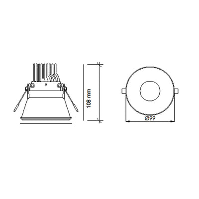 11W Recessed Down Light  <Br><sub>LANA – DL110434</sub>