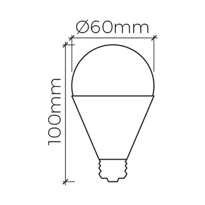 9W Non-dimmable LED E27 Base Lamp <Br><sub>ZORA – FL660091</sub>