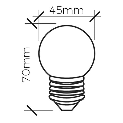 2W Filament LED Lamp <Br><sub>ZORA – FL660116</sub>
