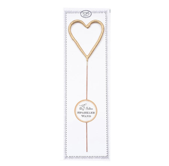 Gold Heart Sparkler Wand
