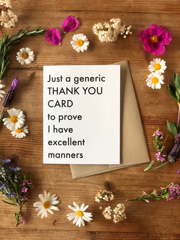 Generic Thank You Card
