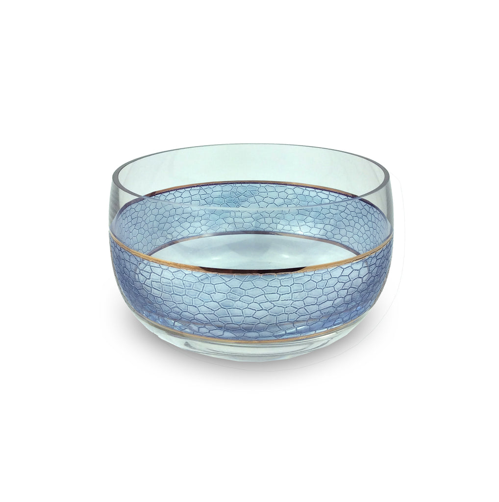 Panthera Indigo Glass Medium Bowl