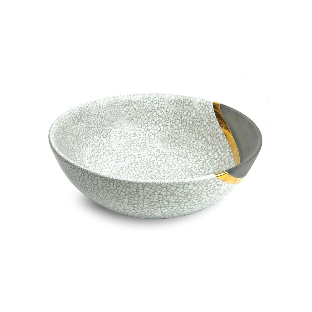 Raku Gold Medium Serving Bowl