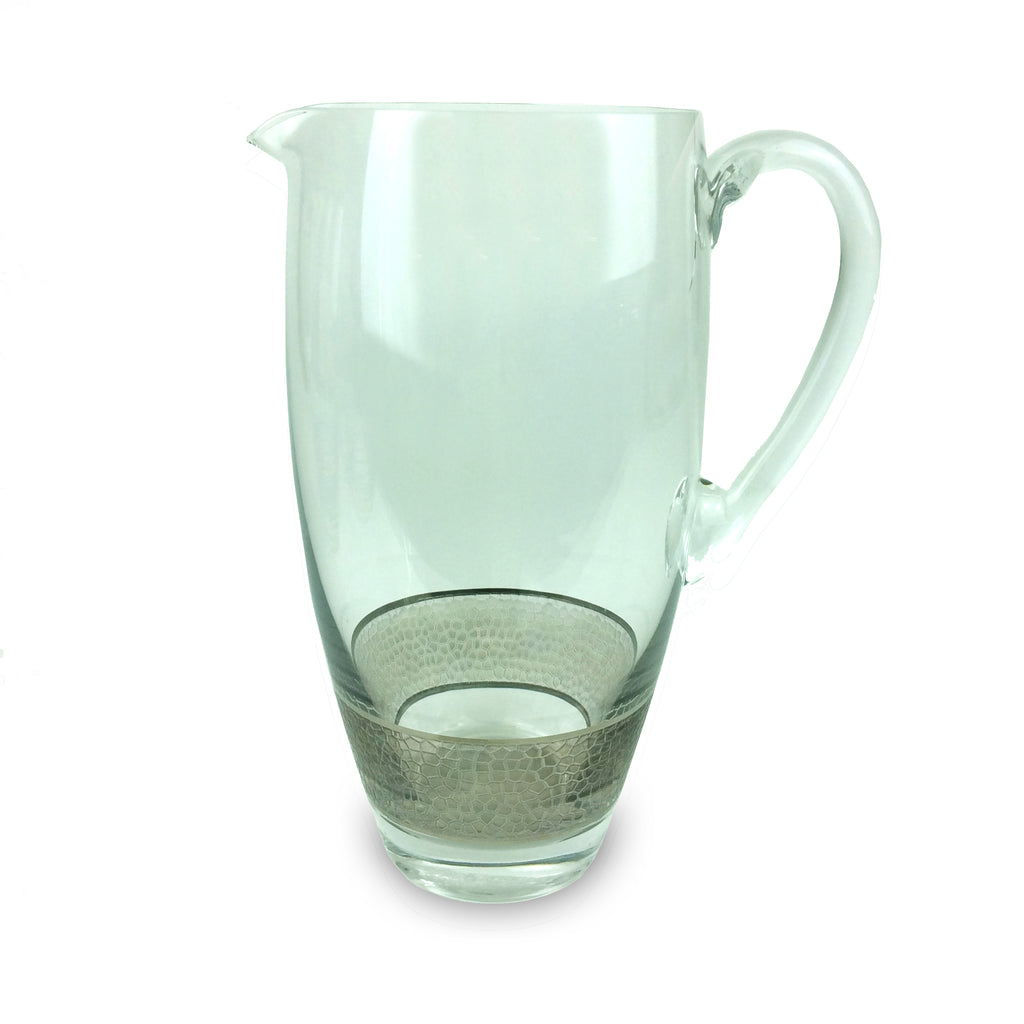 Panthera Platinum Glass Pitcher