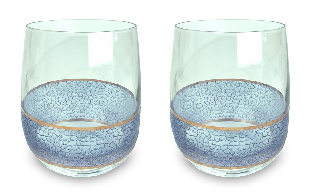 Panthera Indigo double old fashioned set of 2