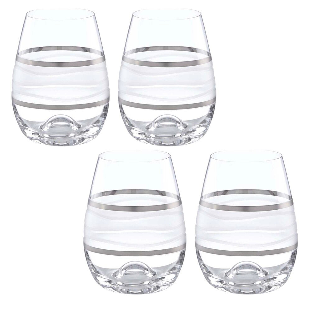 Ile de Re Platinum Stemless Wine set of 4