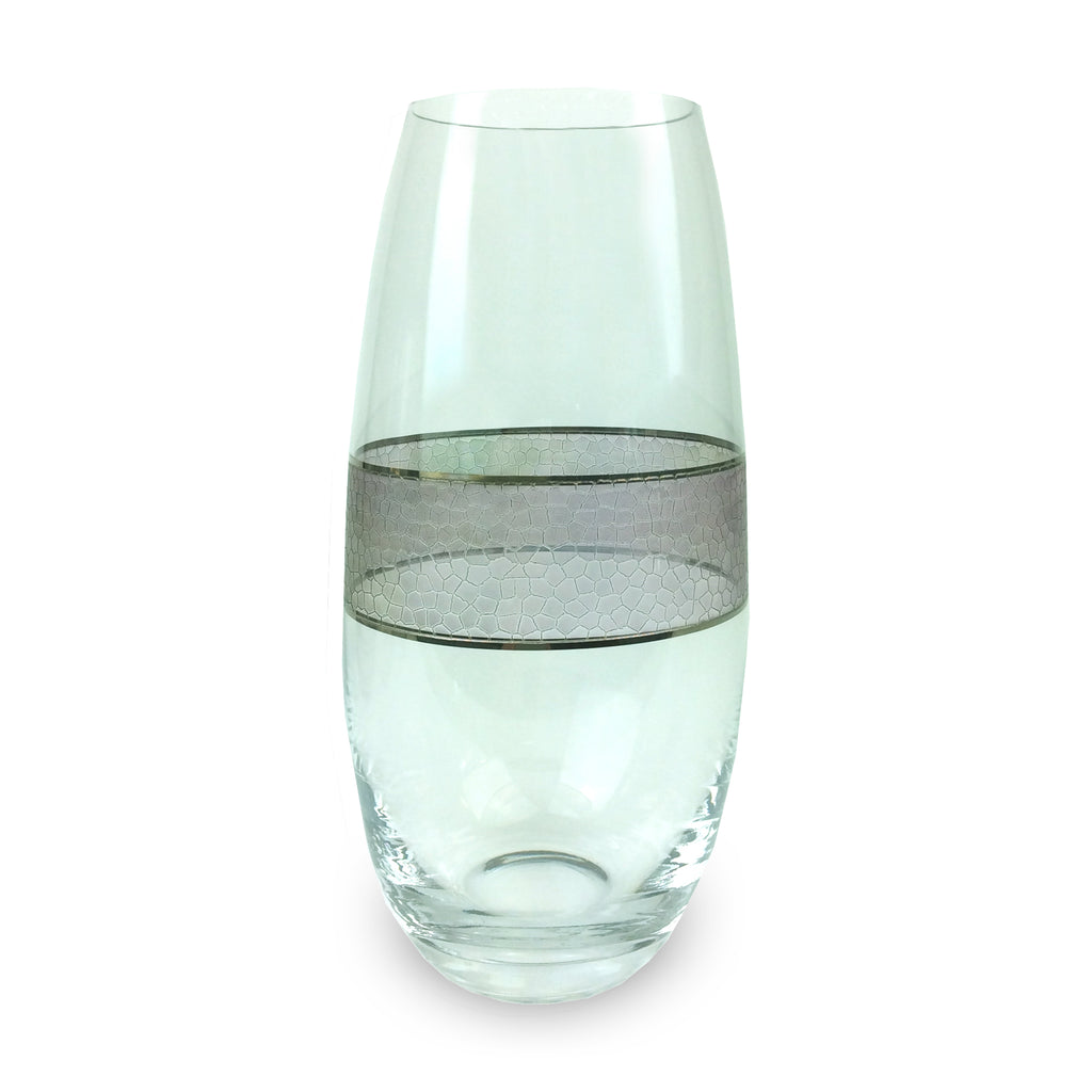 Panthera Platinum Glass Vase