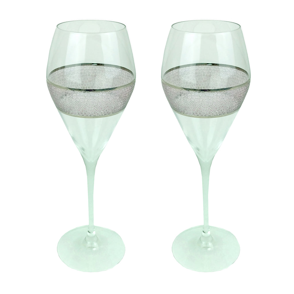 Panthera Platinum prosecco set of 2