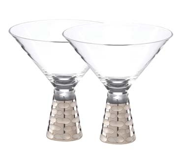 Truro Platinum Martini Glass Set of two