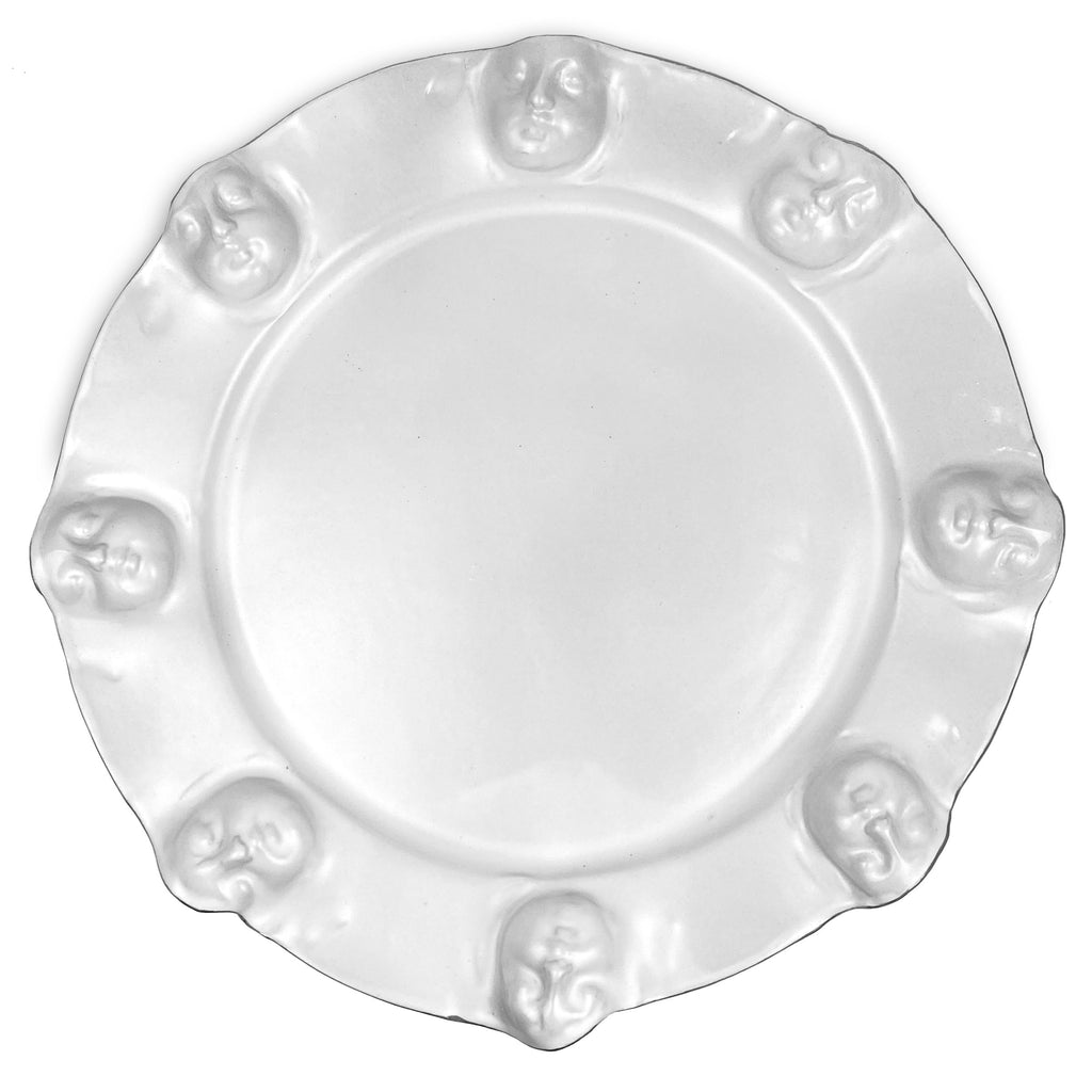 Face Platter white with Platinum