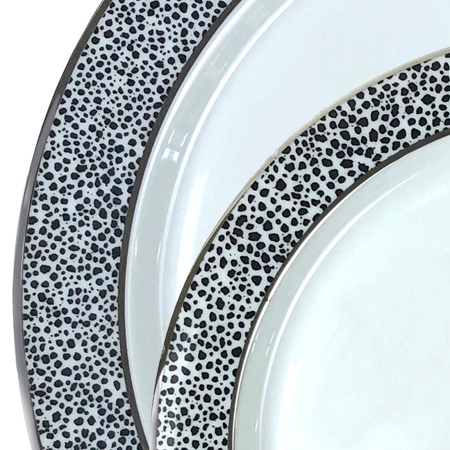 Panthera Platinum 3 Piece Set - Dinner, Salad, Bowl
