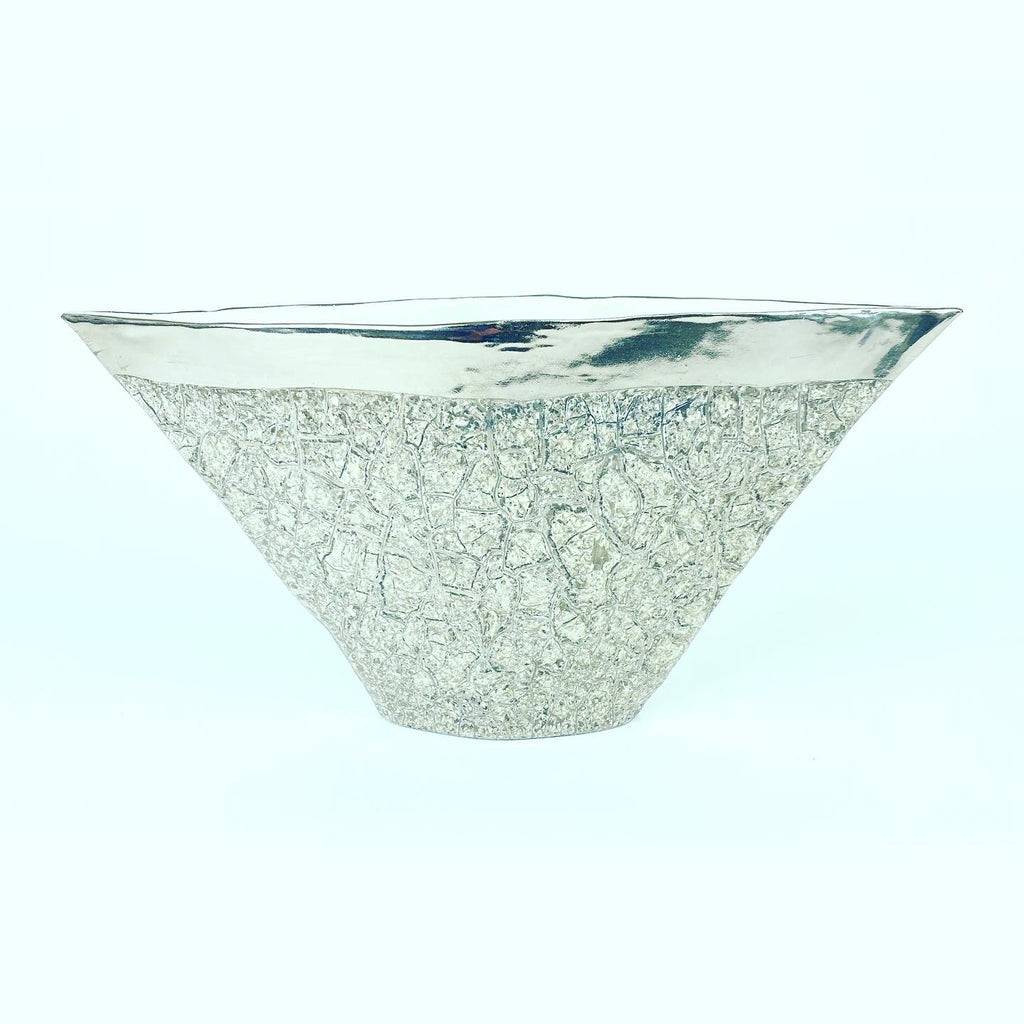Small Vuitton Vase Platinum Crackle