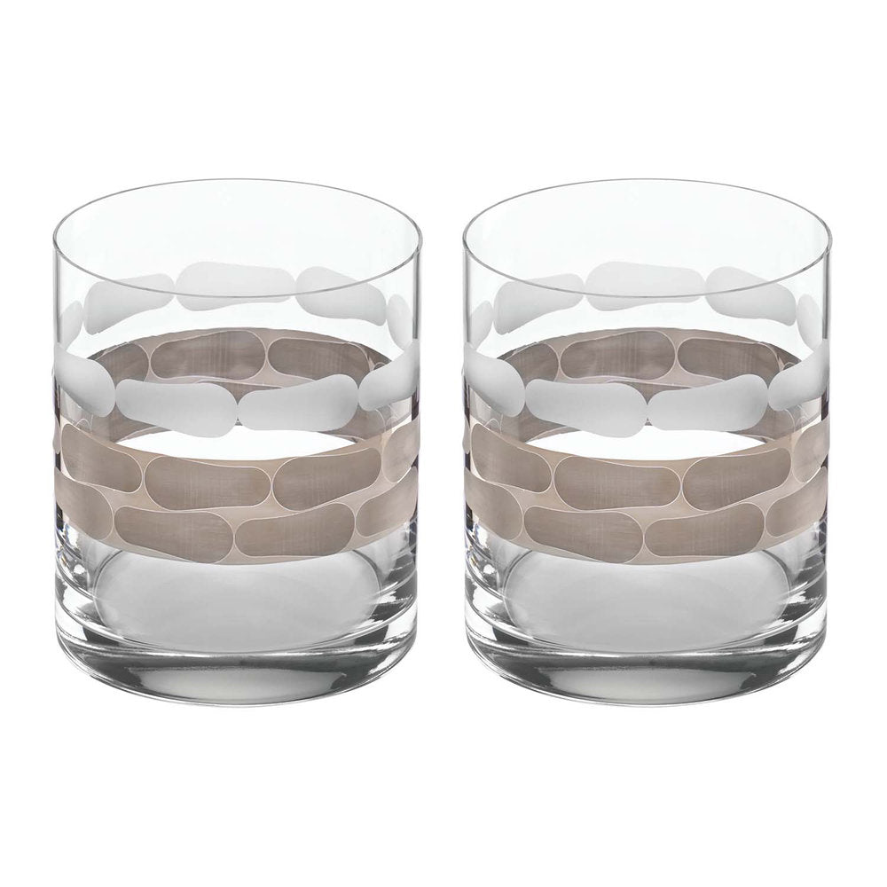 Truro Platinum Double Old Fashion Set of 2