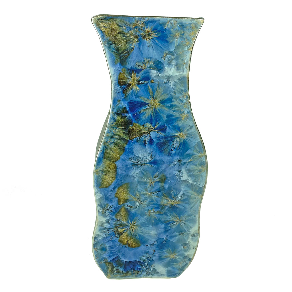 Borealis Frost Blue Small Art Vase
