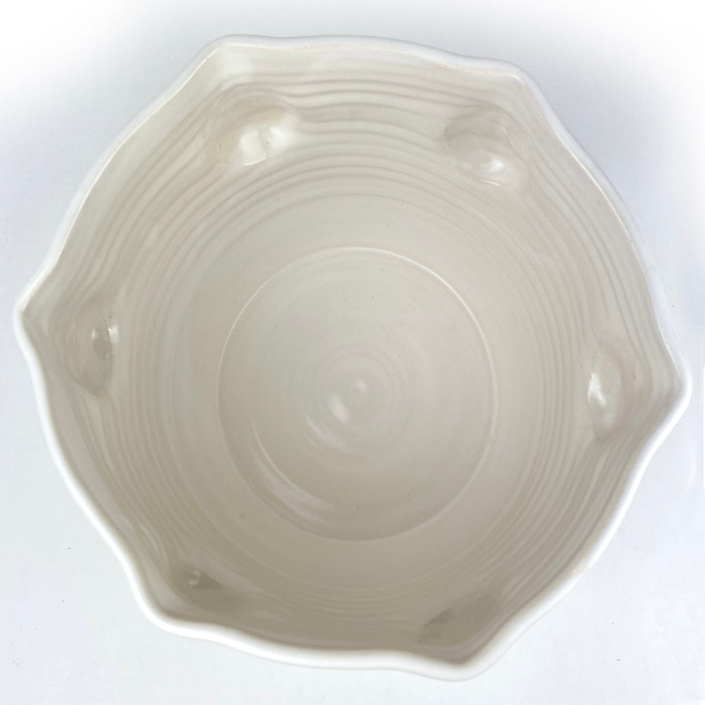 Large Face Bowl White