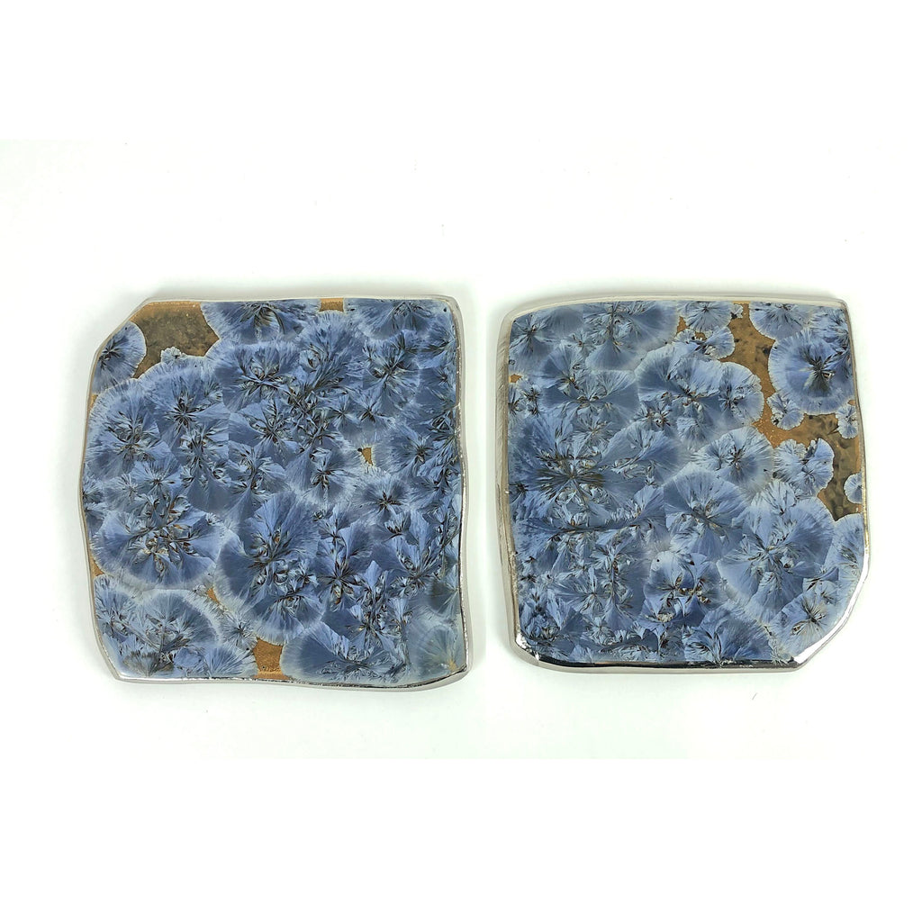 Large Coasters Borealis Blue Set of 2