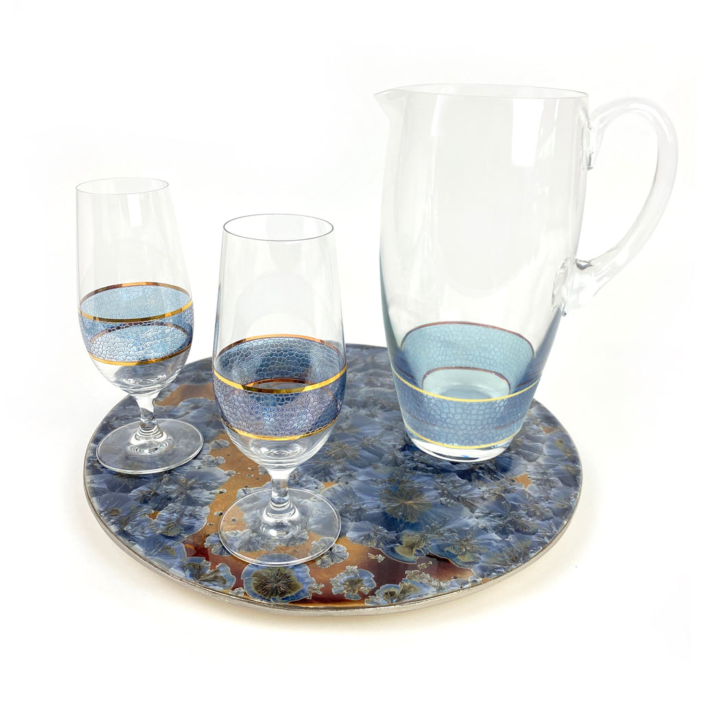 Panthera Indigo Glass Pitcher