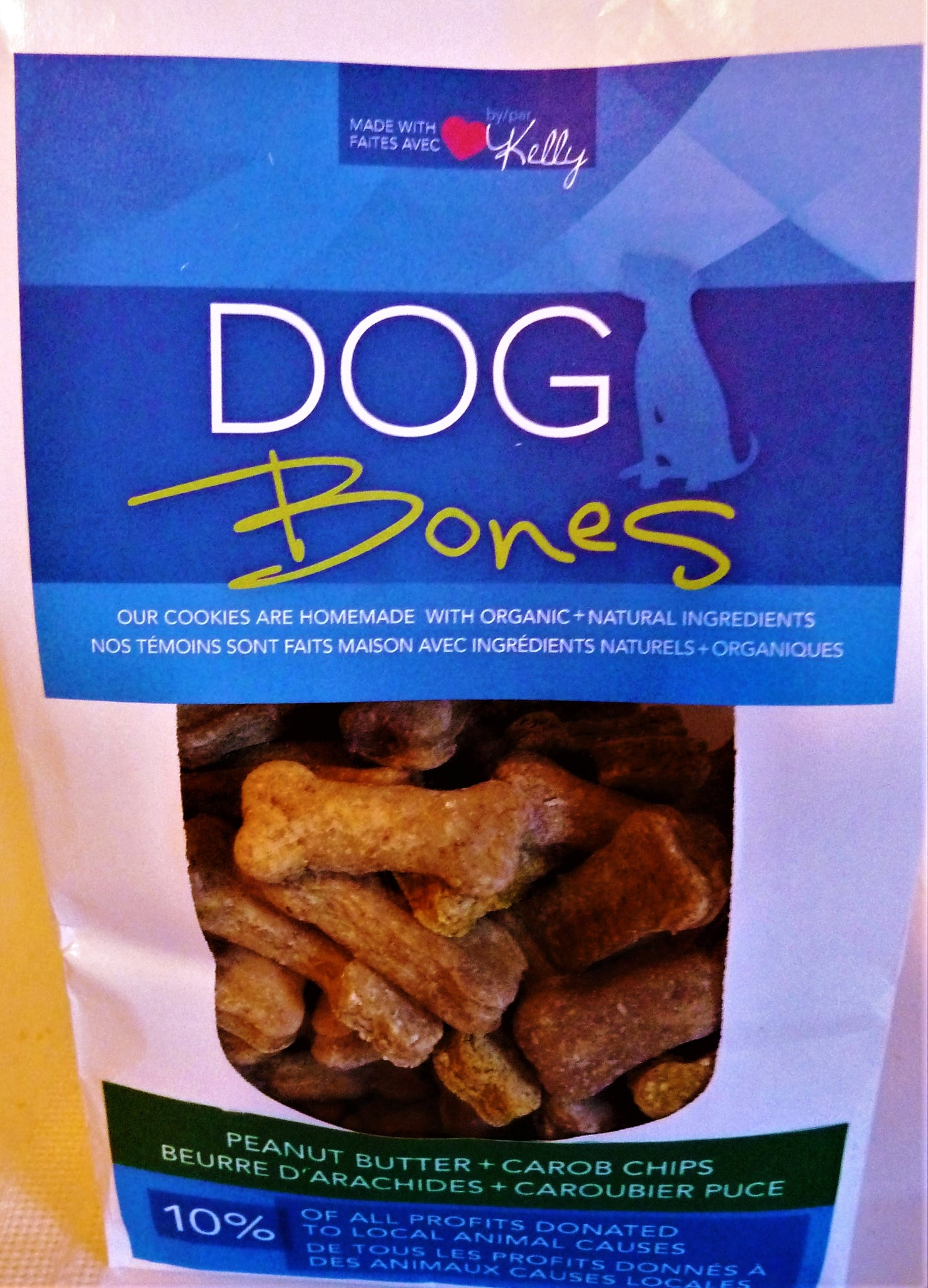 PEANUT BUTTER & CAROB CHIPS - DOG BONES COOKIES