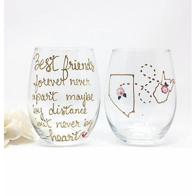 Best friend wine glass