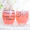 mother and daughter wine glass