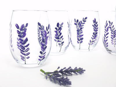 lavender wine glasses