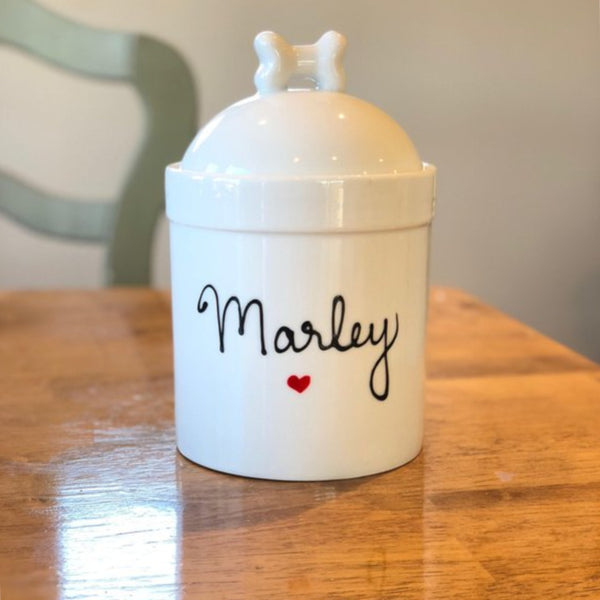 dog treat jar customized