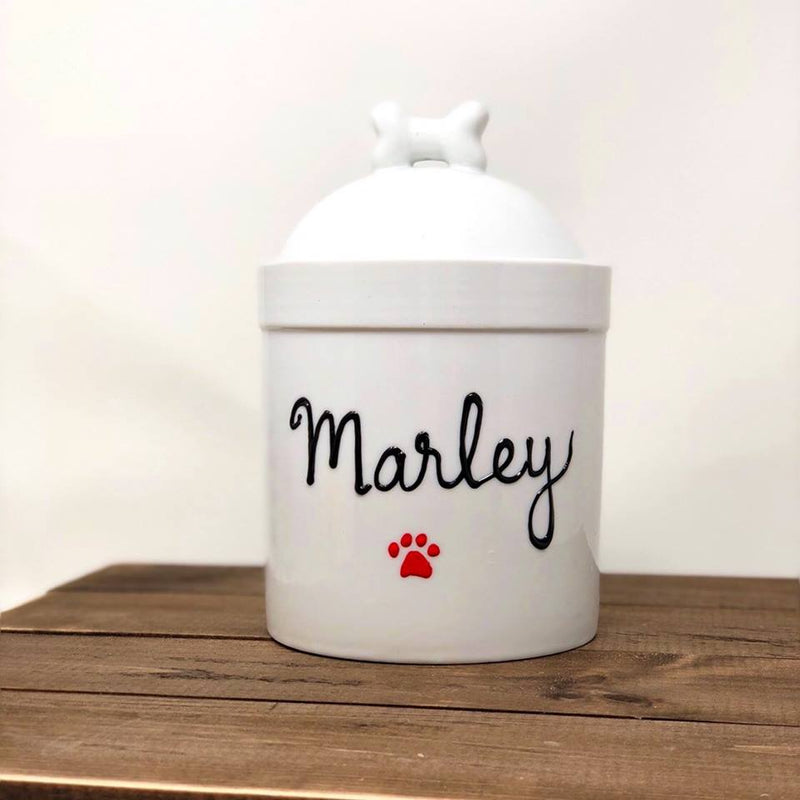 personalized large dog treat jar