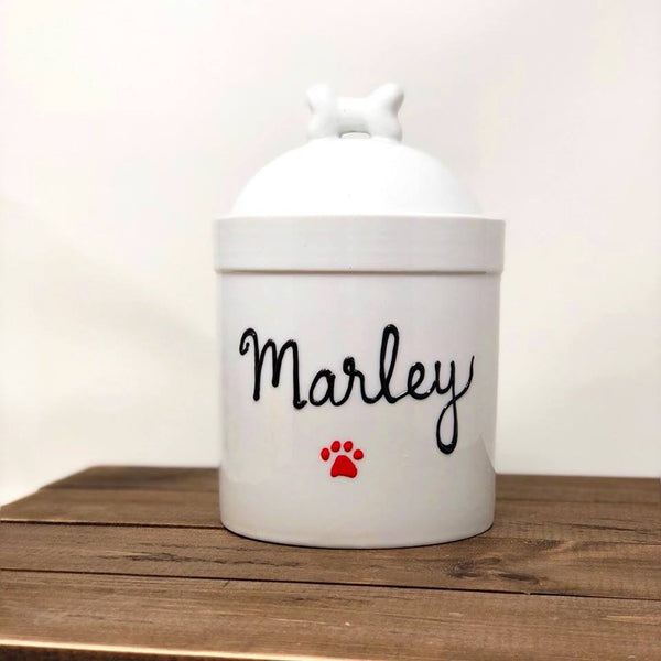 fc2a87d9b7ab Large Personalized Large Airtight Dog Treat Jar Personalized with ...