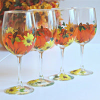 Pumpkin Wine Glasses-Brusheswithaview