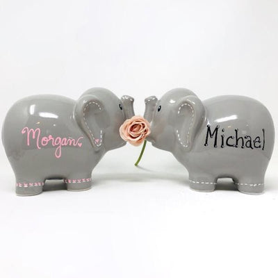 Personalized elephant piggy bank