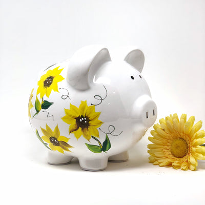 sunflower piggy bank