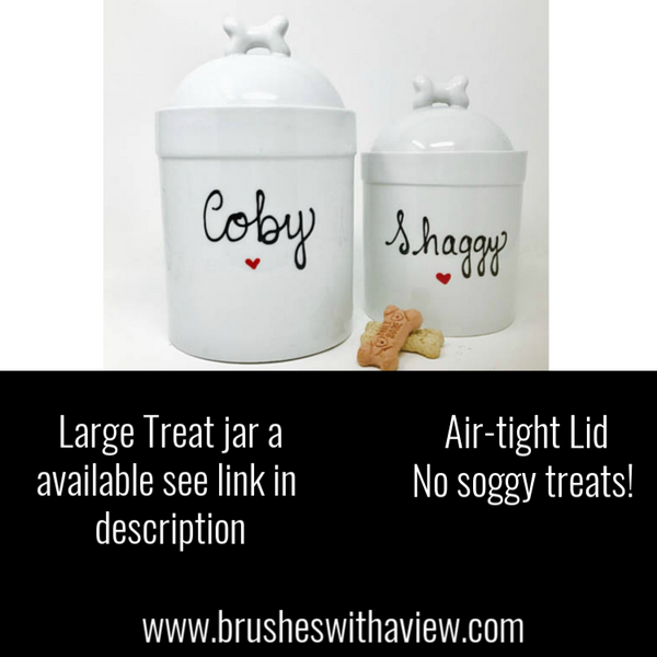 955738e0ae00 Personalized Pet Treat Jar, Small Customized with Dogs Name