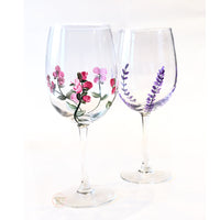 lavender flower wine glass