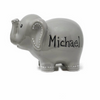Personalized Gray Elephant Piggy Bank - Boys
