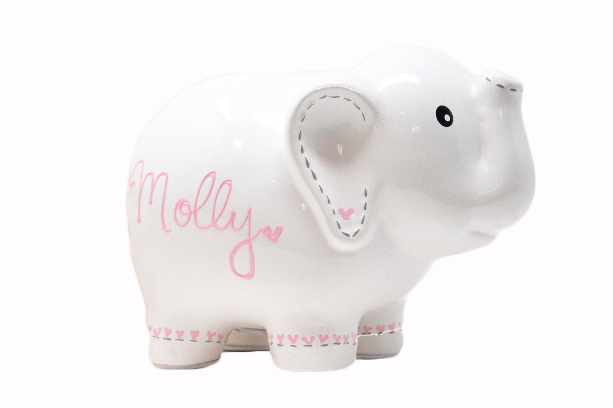 elephant piggy bank for girls personalized