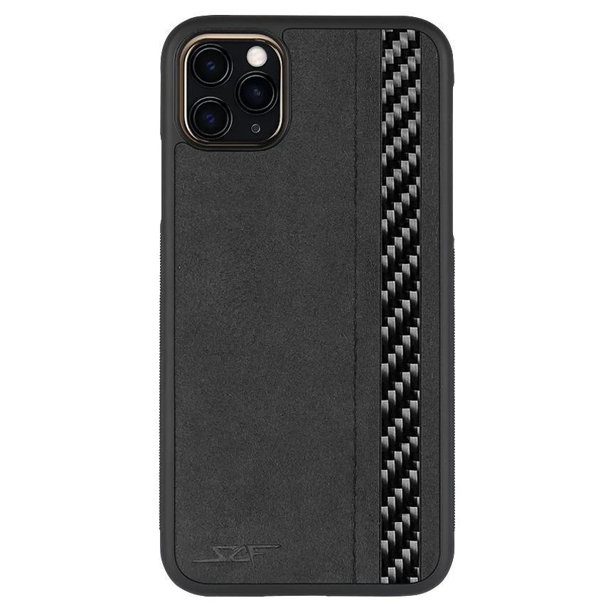 Pro Alcantara & Real Carbon Fiber Case for iPhone 11  | CLASSIC Series