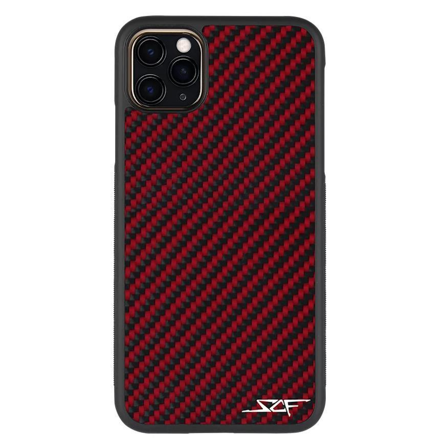 Red Carbon Fiber Phone Case for iPhone 11 Pro | CLASSIC Series
