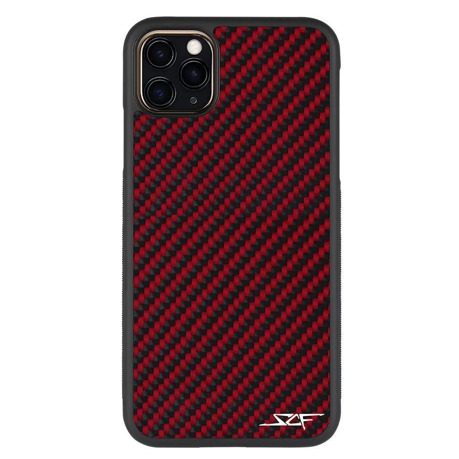 Red Carbon Fiber Phone Case for iPhone 11 Pro Max | CLASSIC Series