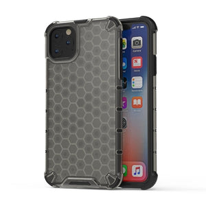 Open image in slideshow, AMZER Honeycomb SlimGrip Hybrid Bumper Case for iPhone 11 Pro Max