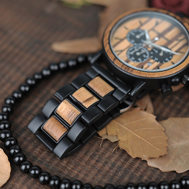 Wooden Steel Luxury Watch