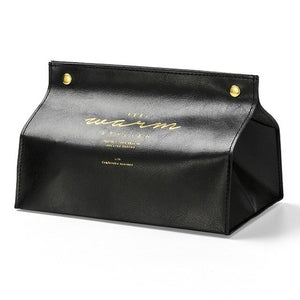 Open image in slideshow, Leather Tissue Box Case